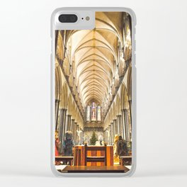 Salisbury Cathedral At Christmas Time Clear iPhone Case