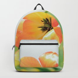Bright Orange Tulips in Sunlight Backpack