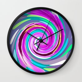 Purple twirl Wall Clock