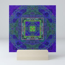 Night Vision Meditation Mandala 2 Mini Art Print