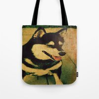 best friend Tote Bags featuring Best friend by Truly Juel