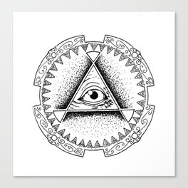 The Triangle-shaped Watcher Canvas Print