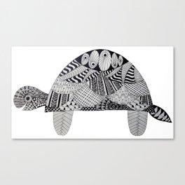 Zentangle® Inspired Art - Turtle Canvas Print