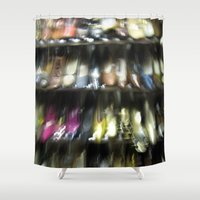 shoes Shower Curtains featuring Shoes by Camille's Images