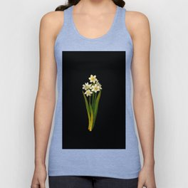Narcissus Mary Delany Vintage Paper Flower Collage Floral Botanical Art Unisex Tank Top