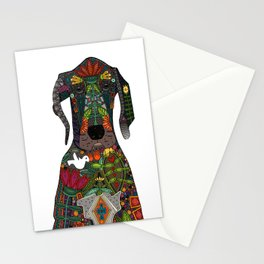 Great Dane love white Stationery Cards