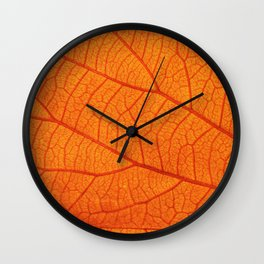 Close up Golden leaved liana for background Wall Clock
