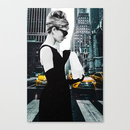 """Photo Montage """"Audrey in The City"""" Canvas Print"""