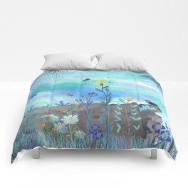 Blue Garden I Comforters