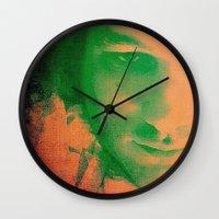 apollo Wall Clocks featuring Apollo incarnate by Angela Pesic