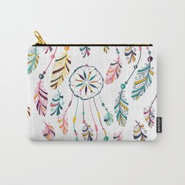 White Dreamcatcher Carry-All Pouch