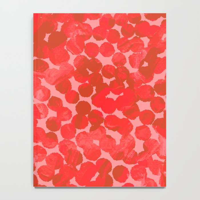 Coral Red Dots Notebook