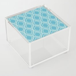 Abstract Turquoise Acrylic Box