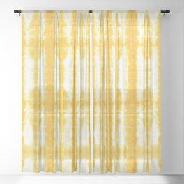 Yellow Tiki Shibori Sheer Curtain