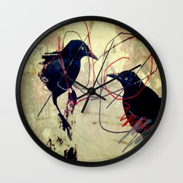 The gaze for the crow's crown Wall Clock