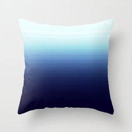 Nautical Blue Ombre Throw Pillow
