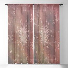 Boho Chic V Sheer Curtain
