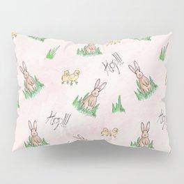 Sweet Little Bunny Rabbit Pattern Print Pillow Sham