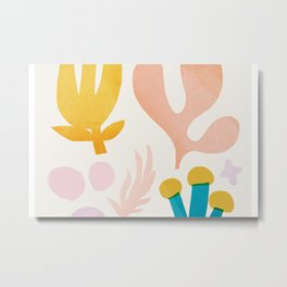 Abstraction_Floral_Coral Metal Print