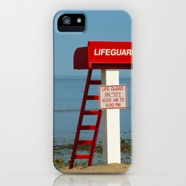 Life Guard off duty at the beach iPhone Case