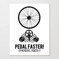 yowamushi pedal Canvas Prints featuring Pedal Faster by EphemeralYouth
