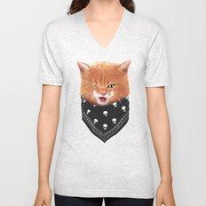 Cheeky cat Unisex V-Neck