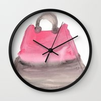 tote bag Wall Clocks featuring Tote 3 by ©valourine