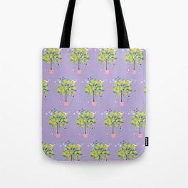 Lemon Tree patten Tote Bag