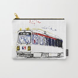 Septa Trolley Art: Philly Public Transportation Carry-All Pouch