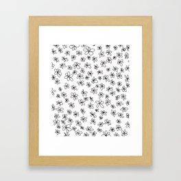 Simple Little Daisies Framed Art Print