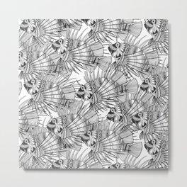 fish mirage black white Metal Print