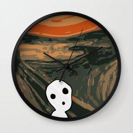 Kodama Scream Wall Clock