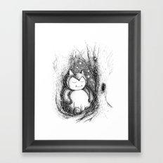 Snoozy Snorlax Framed Art Print