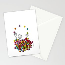 DIDI and chocolate candies Stationery Cards