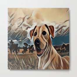 The Rhodesian Ridgeback Metal Print