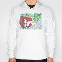 ariel Hoodies featuring Ariel by Little Lost Forest