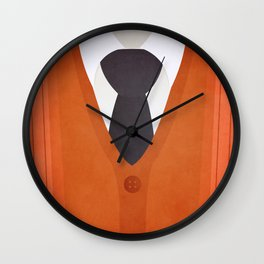 Cardigan Sweater and Tie Wall Clock