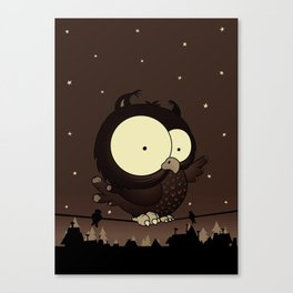 Little owl v2 Canvas Print