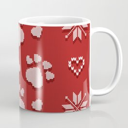 Dog Paws Christmas - Sweater Weather Isle Coffee Mug