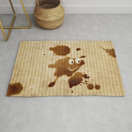 The Smile of Coffee Drop - Old Paper Style Rug