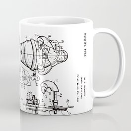 Santa Claus Bank Support Patent Drawing From 1953 Coffee Mug