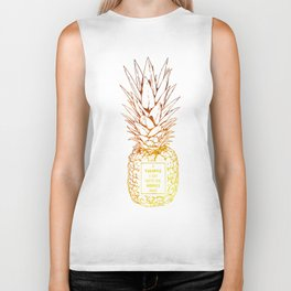 Pineapple Worries Biker Tank