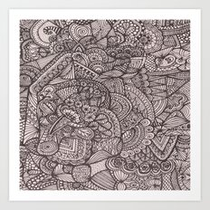 Doodle 8 Art Print