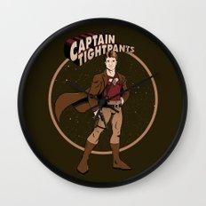 Captain Tightpants Wall Clock