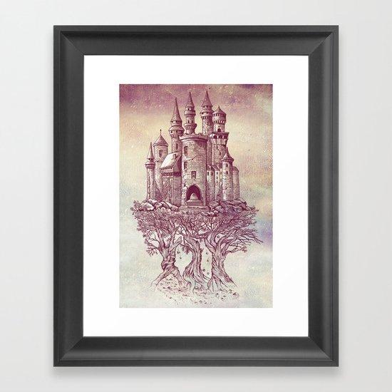 Castle in the Trees Framed Art Print