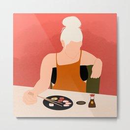 My Cute Sushi Date Metal Print