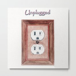 Unplugged Metal Print