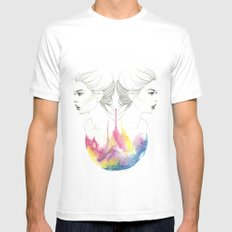 zodiac - gemini MEDIUM Mens Fitted Tee White