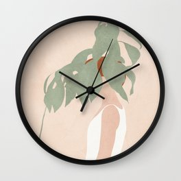 Lost in Leaves Wall Clock