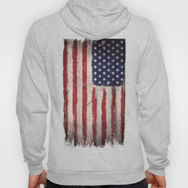 Wood American flag Hoody